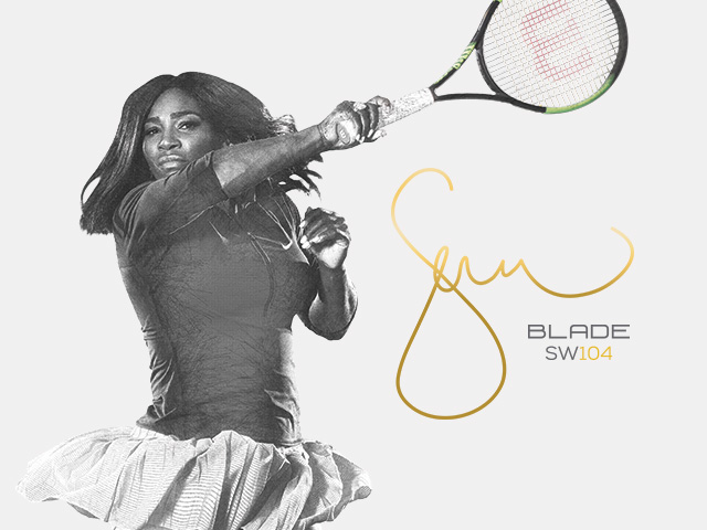 Serena Williams Blade SW 104 Countervail Autograph Tennis Racket