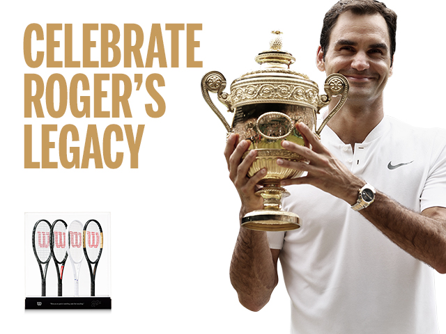SIGNED ROGER FEDERER LIMITED EDITION 2017 MINI RACKET COLLECTION